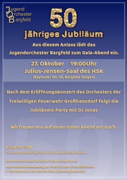 Galaabend 50 Jahre JOB